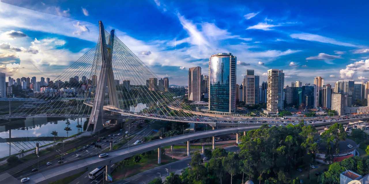 ponte estaiada cidade de sao paulo