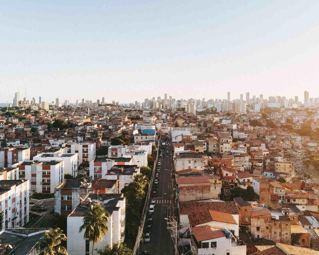 imagem aerea da cidade de Salvador bahia