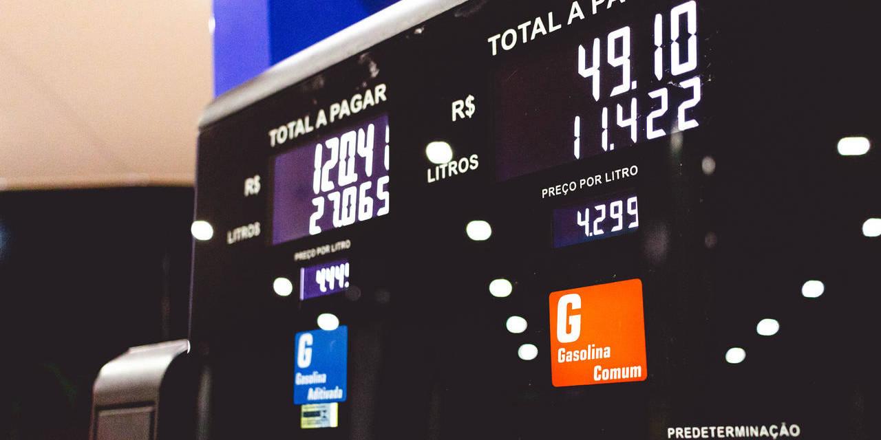 valor do abastecimento na bomba de combustível