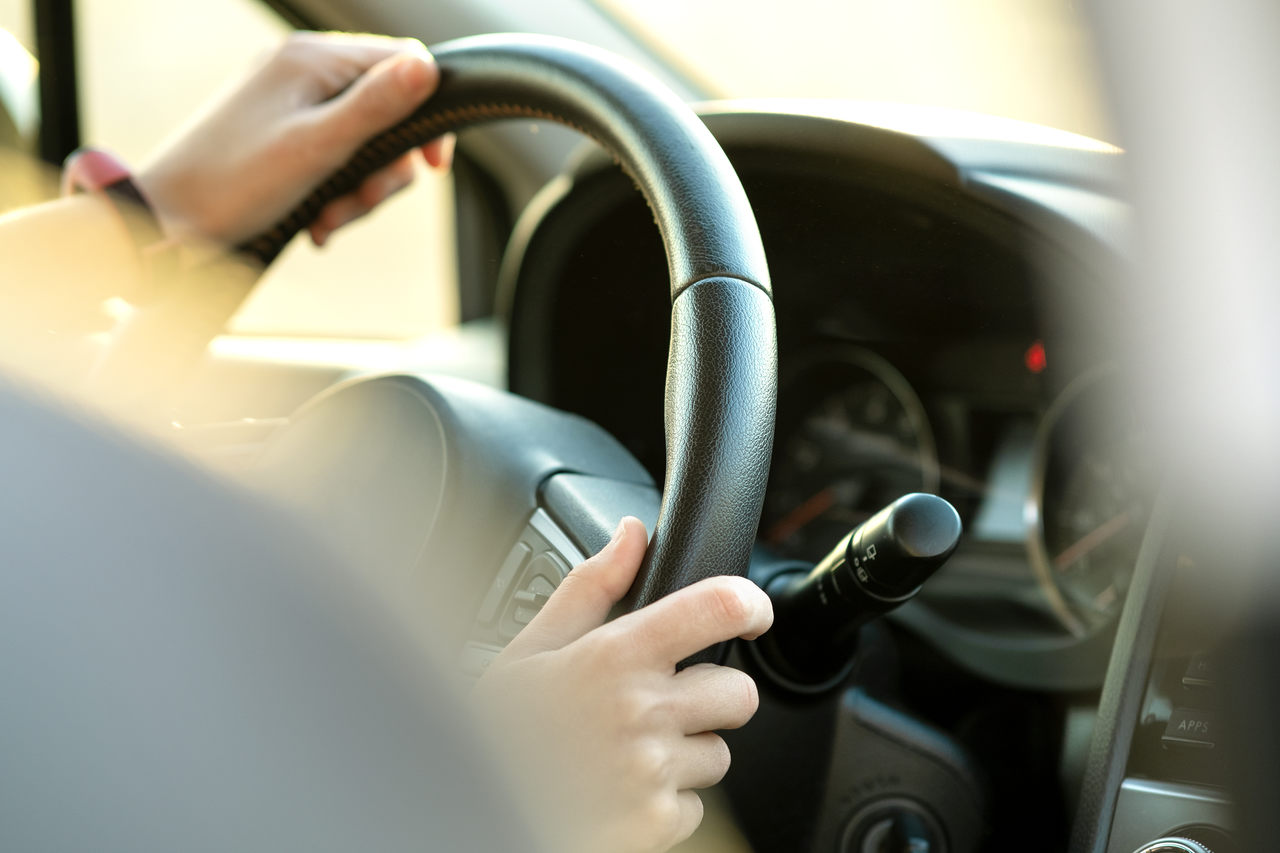 foto de volante de carro