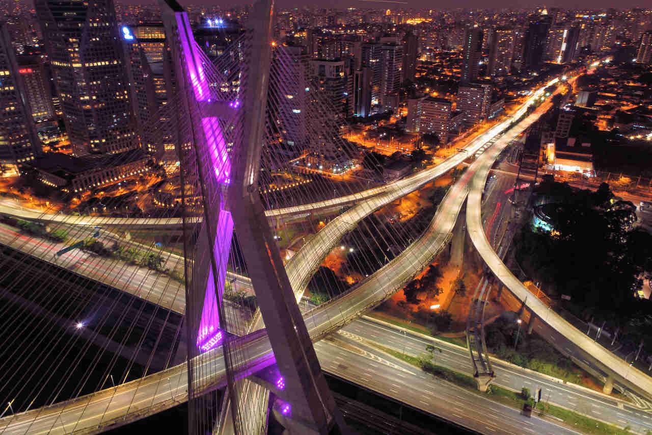 ponte estaiada em sao paulo