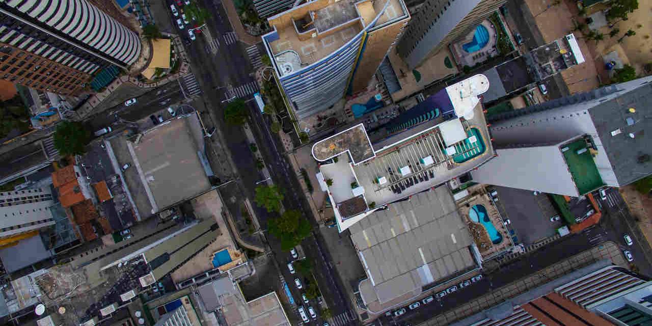 vista de cima de ruas em fortaleza ceara